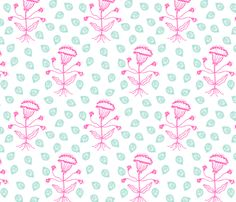 Jaipur in pink/turquoise fabric by domesticate on Spoonflower - custom fabric