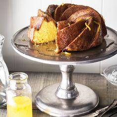 Warm lemon syrup cake
