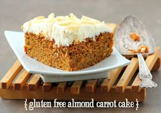 gluten free - Almond Carrot Cake With Lemon Cream Cheese Frosting