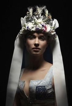 "Slovak-folk-costumes: ""Parta"" headgear from Detva, Slovensko/SLOVAKIA Folk Costume, Costumes, Bridal Headdress, Folk Fashion, Headgear, Folklore, Traditional Outfits, Different Styles, Czech Recipes"