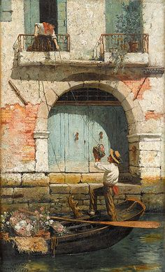 Burr Nichols - The Flower Seller, Venice