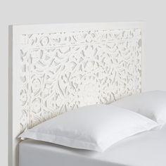 Whitewash Carved Zaria Headboard by World Market