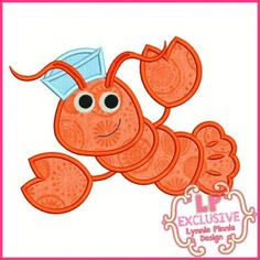 See It All - Sailor Lobster Applique 4x4 5x7 6x10 SVG - Welcome to Lynnie Pinnie.com! Instant download and free applique machine embroidery designs in PES, HUS, JEF, DST, EXP, VIP, XXX AND ART formats.