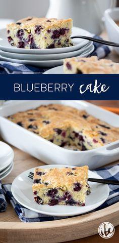 Delicious Homemade Blueberry Cake Recipe #blueberrycake #cake #blueberries #dessert #recipe