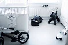 a monochrome nursery
