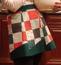 My friend, Theresa, made this fun Christmas apron.  Love it!