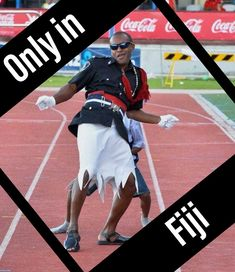 Only in Fiji will you find a policeman being a wanka to entertain the crowds, during a sports/social event Social Events, Fiji, Crowd, Attraction, Tourism, Entertaining, Classic, Sports, Poster