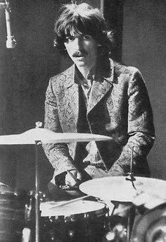 George on drums