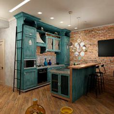 Бодрящий мохито: Кухни в . Автор – ЙОХ architects