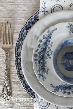 blue & white finds - Miss Mustard Seed