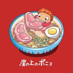 Shop Ghibli anime t-shirts designed by patatohead as well as other anime merchandise at TeePublic. Hayao Miyazaki, Studio Ghibli Art, Studio Ghibli Movies, Personajes Studio Ghibli, Totoro Merchandise, Manga Anime, Anime Art, Ponyo Anime, Chihiro Y Haku