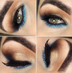 Tutorial – maquiagem pérola e azul turquesa!