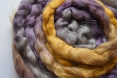 Australian Wool Tops Roving English Leicester Combed Tops Tasmanian Grown Spinning Felting Needle Felting Purple Gold Brown 100g 12248