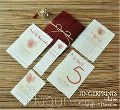 Davetizm, Düğün Davetiyesi, R01, Romance, Davetiye Seti, Tasarım, Wedding, Invitation, Design, Fingerprints, Parmak İzi