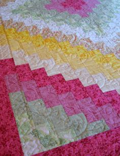Lap Quilt in multi Spring colors Wonderful as by WarmandCozyQuilts,