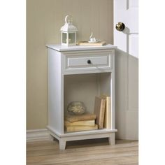 Portview White Wooden Side Table