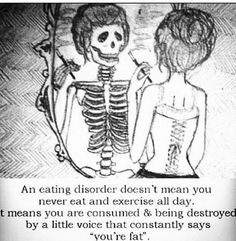 So true, hate the assumption that to have an eating disorder you have to be stick thin and never eat!