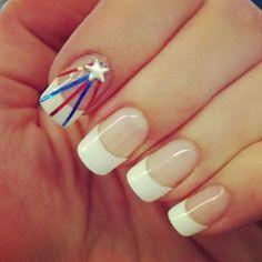 white tip nails designs america pinterest