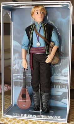 "Kristoff Frozen Summer Fever Limited Edition 17"" 18"" Doll Disney Store Only 3500 