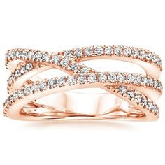 14K Rose Gold Entwined Bisou Diamond Ring (1/2 ct. tw.) from Brilliant Earth