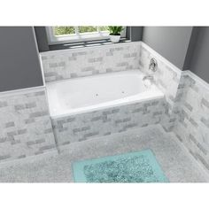 American Standard EverClean 5 ft. x 32.75 in. Reversible Drain Whirlpool Tub in White-2732LC.020 - The Home Depot