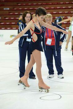 Artistic roller skating, world championships 2016. Emma Gloudeman, USA