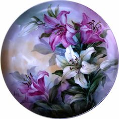overglaze mineral paints on porcelain by Andrew Orr Pictures To Paint, Art Pictures, Mineral Paint, China Painting, Hand Painted Ceramics, Plates On Wall, Painting Inspiration, Flower Art, Glass Art