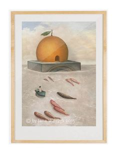 """Palermo"" Illustration by Jana Walczyk- Etsy. Painting/ Collage /Italy/ Artprint/ poster"