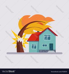 Estate Insurance Colourful Vector Illustration flat style. Download a Free Preview or High Quality Adobe Illustrator Ai, EPS, PDF and High Resolution JPEG versions.