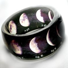 stages of the moon ~ translucent resin bangle