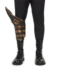 Steampunk Latex Spats for Adults ($9.99) ❤ liked on Polyvore featuring costumes, halloween costumes, latex costumes, adult steampunk costume, white halloween costumes, latex halloween costumes and steampunk costume