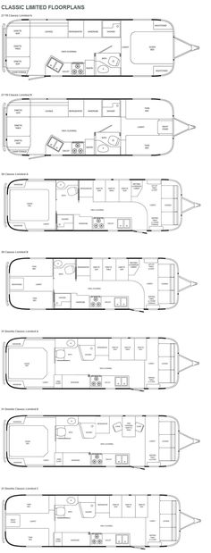 ok, maybe a little too small to live in ... all the time. Airstream Classic Limited travel trailer floorplans