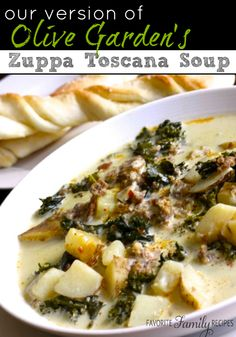 One of my very favorites!  Our Version of Olive Garden's Zuppa Toscana Soup