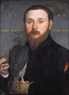 Portrait of a Man with a Falcon - Hans Holbein the Younger