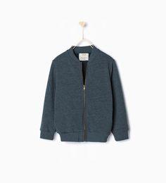 Image 1 of Bomber-style sweatshirt from Zara