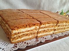 Mézeskalács szelet, addig eszed, amíg van belőle Honey Recipes, My Recipes, Sweet Recipes, Cake Recipes, Dessert Recipes, Hungarian Desserts, Hungarian Cake, Hungarian Recipes, Ital Food