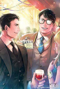 Batman x Superman: Photo Dc Comics, Batman Y Superman, Superbat, Cute Anime Guys, Clark Kent, Bat Family, Nightwing, Teen Titans, Marvel Dc