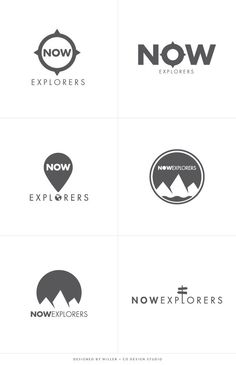 Branding Logo Design Concepts Adventure Explorer