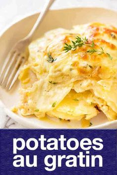 All essential food groups covered: potatoes, butter, cream and cheese! I used gruyere and white cheddar. Potato Side Dishes, Vegetable Dishes, Vegetable Recipes, Vegetarian Recipes, Potato Recipes, New Recipes, Cooking Recipes, Favorite Recipes, Tuna Recipes
