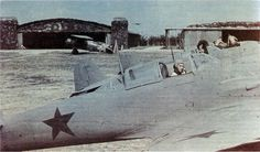 Heinkel He 112 fighters Romanian 51 1st Squadron with the stars on board. Simulated Soviet fighter aircraft in the shooting of the Italo-Romanian film The White Squadron