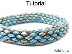 Beaded Tubular SuperDuo Bracelet Necklace Downloadable Beading Pattern Tutorial   Simple Bead Patterns