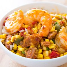 Maque+Choux+with+Shrimp+Recipe+-+Cooks Country - this sounds really good although I've never grated corn in the cob before!