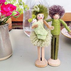 Sweet baby congrats peg dolls!