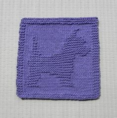 Knit Dishcloth SCOTTIE YORKIE. Purple Lavender. Hand Knitted Unique Design, 100% Cotton Dish Cloth, Wash Cloth, Dust Cloth. Cute Dog Puppy.
