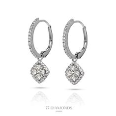 These intricate diamonds earrings are ideal for special occasions.