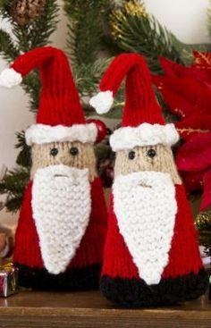 Santa Gnome Ornaments FREE PATTERN ♥4300 FREE patterns to knit ♥ http://pinterest.com/DUTCHYLADY/share-the-best-free-patterns-to-knit/