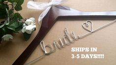 HUGE SALE Wedding hanger Bride hanger by wiredfloweretsy on Etsy Bride Hanger, Wedding Dress Hanger, Wedding Hangers, Bridesmaid Hangers, Berry Wedding, Wedding Dresses Photos, Huge Sale, Wire Hangers, Personalized Wedding
