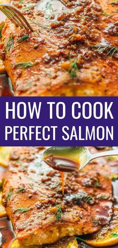 Learn how to cook salmon in the oven perfectly every time using this easy foolproof recipe. in a pan on the grill in foil frozen salmon baked pan seared best patties healthy salad dinner honey blackened Baked Salmon Steak, Salmon Steak Recipes, Salmon Recipe Pan, Grilling Recipes, Seafood Recipes, Dinner Recipes, Cooking Recipes, Cooking Ribs, Gourmet