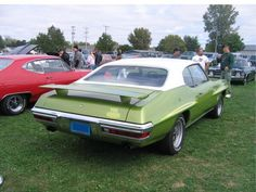 1971 GTO Judge with white-painted top