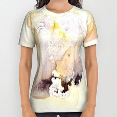 Items similar to Petal Close-Up T-shirt with printed watercolor design. soft pastel colors with deep purpe on Etsy Watercolor Design, Purple Yellow, Pastel Colors, Wearable Art, Printed Shirts, Close Up, Mood, Unisex, Fine Art